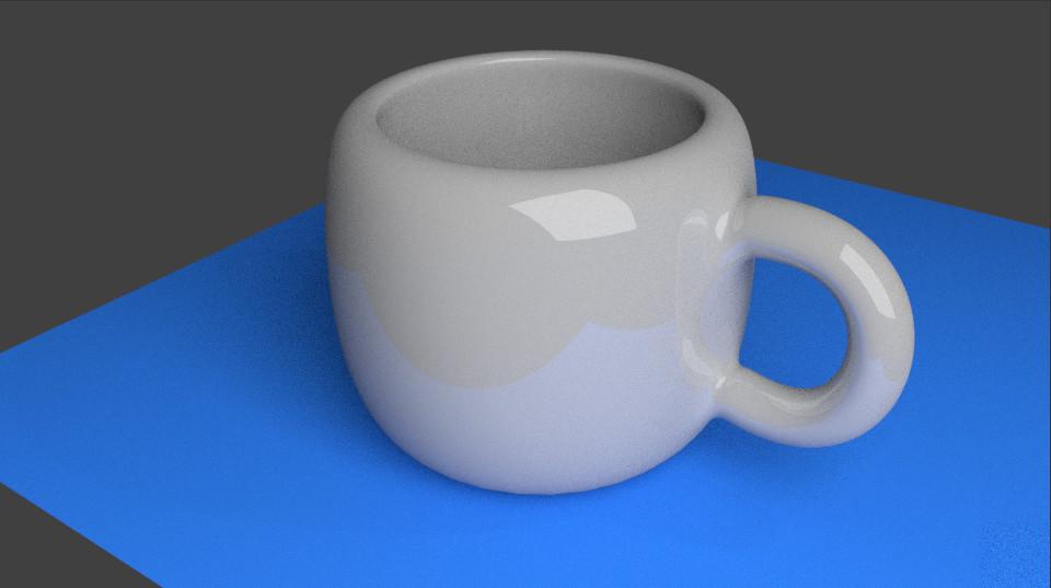 Coffee Cup 5 Final Rendered Model In Blender