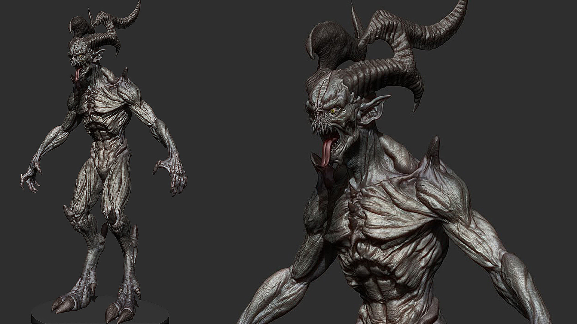 Tomos H Evans Demon Zbrush Character