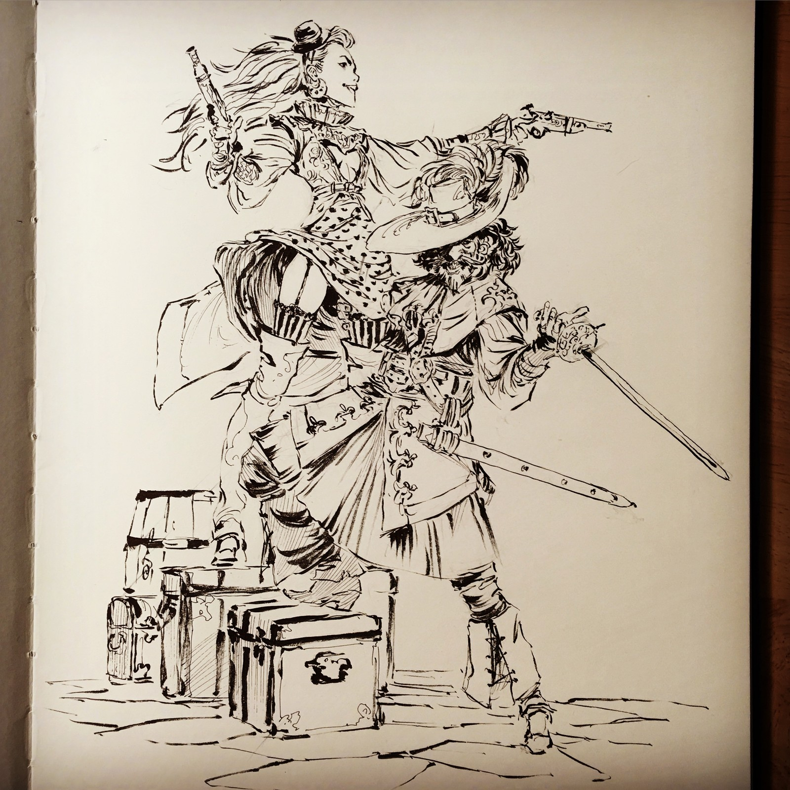 BRUSH PEN and PIRATES