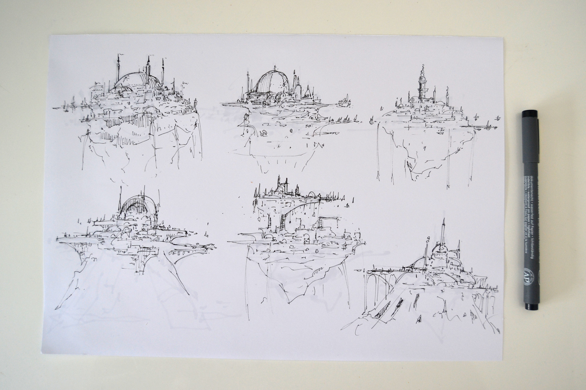 Jonas hassibi 4 arch sketches