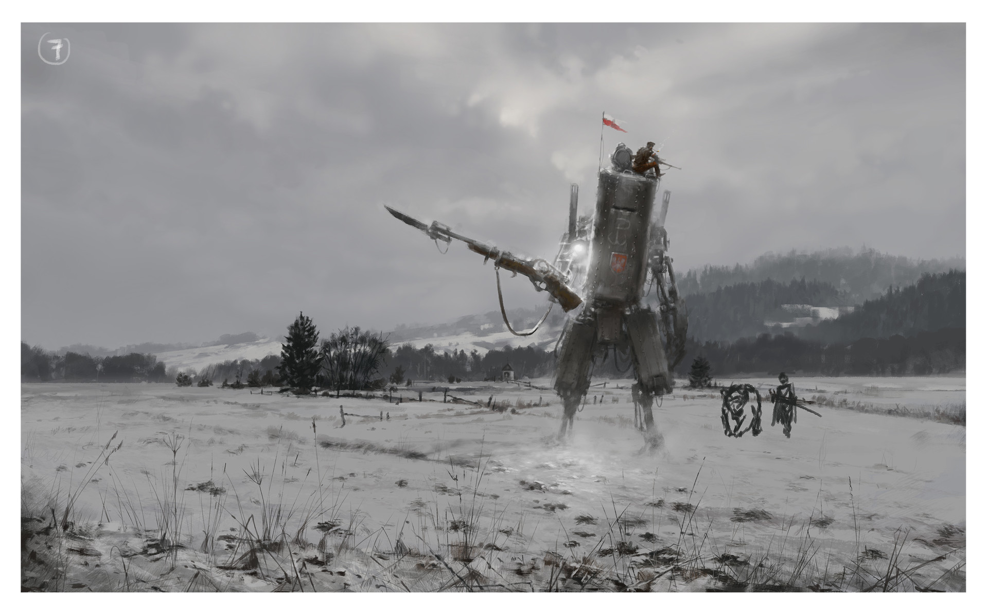 Jakub rozalski work proces watch07