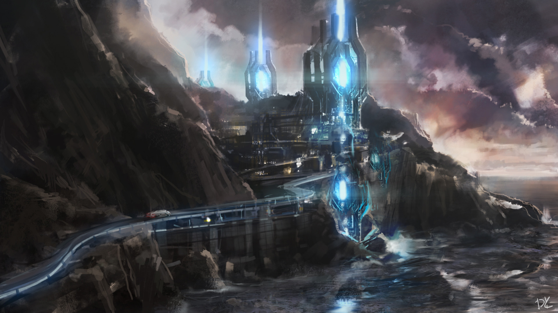 Dmitry kaidash energy sources concept sketch speed painting photoshop cinema4d aae