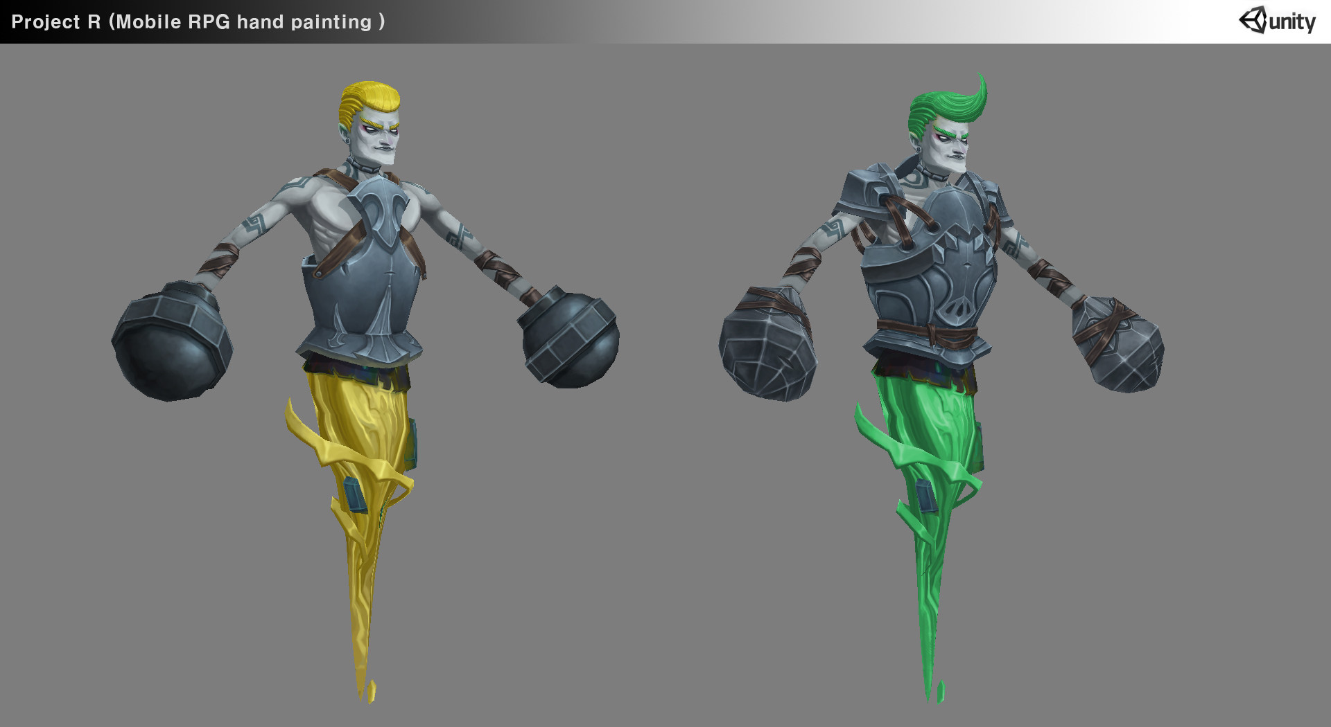 Lee Yong Hyun Mobile Rpg Hand Painting 3d Character