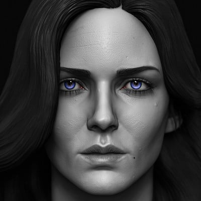 Yennefer done for custom witcher series of action figures