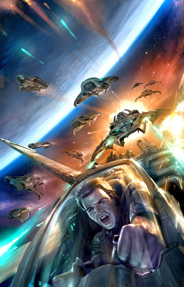how to create a sci-fi space battle