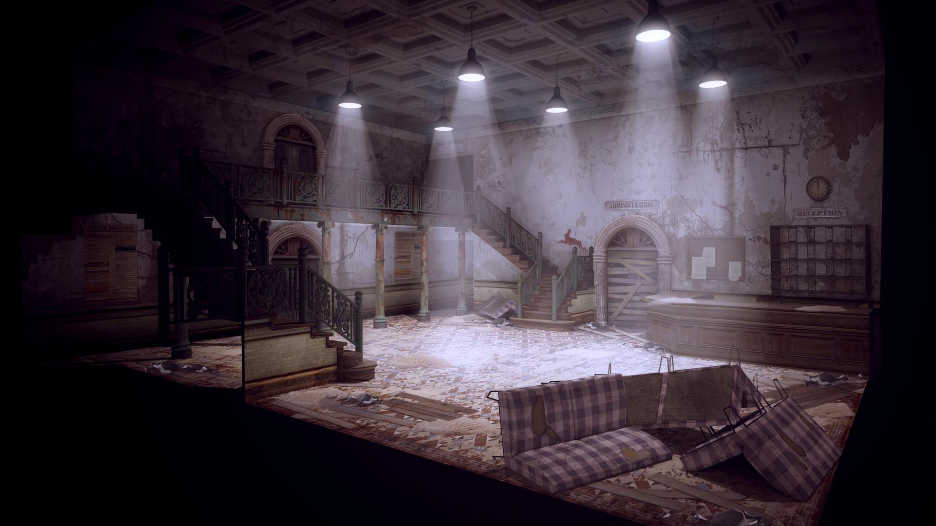 Michael Kelly Abandoned Asylum Reception Area