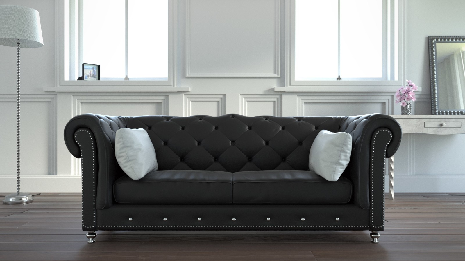 Chesterfield Sofa Close Up
