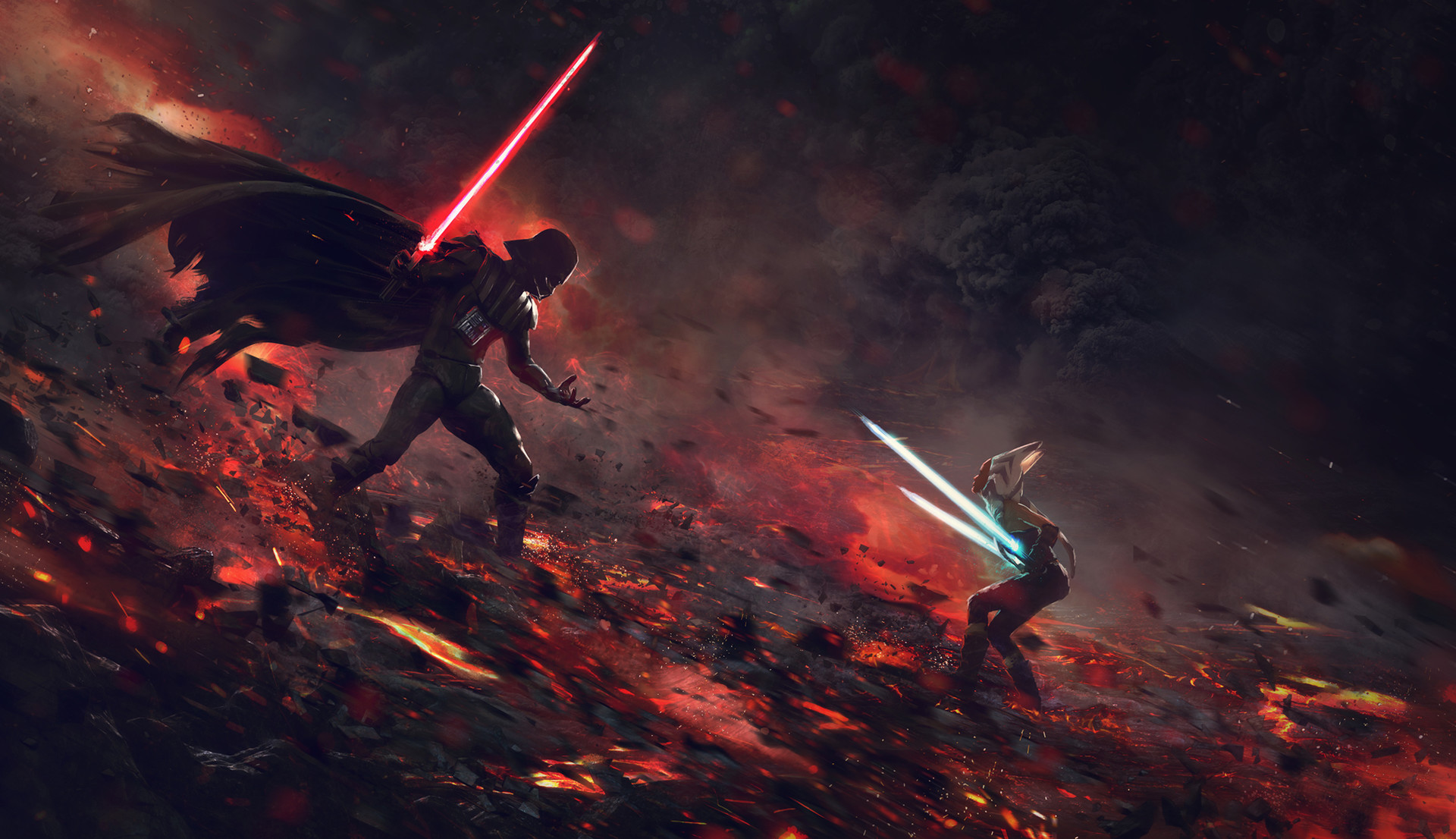 Guillem h pongiluppi guillemhp darth vader vs ahsoka