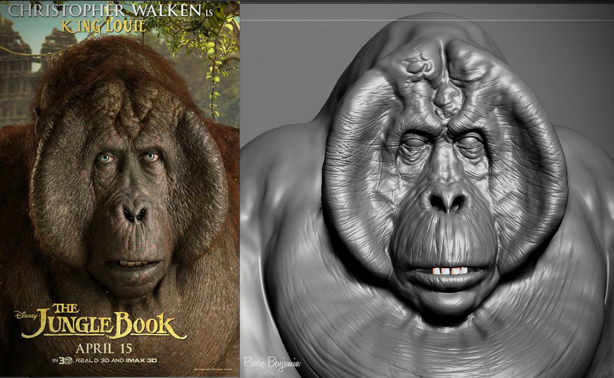 King Louie, from the Jungle Book - Fan Art - WIP