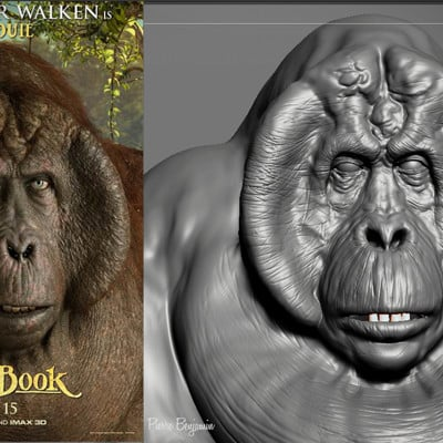 King Louie, from the Jungle Book - Fan Art - WIP