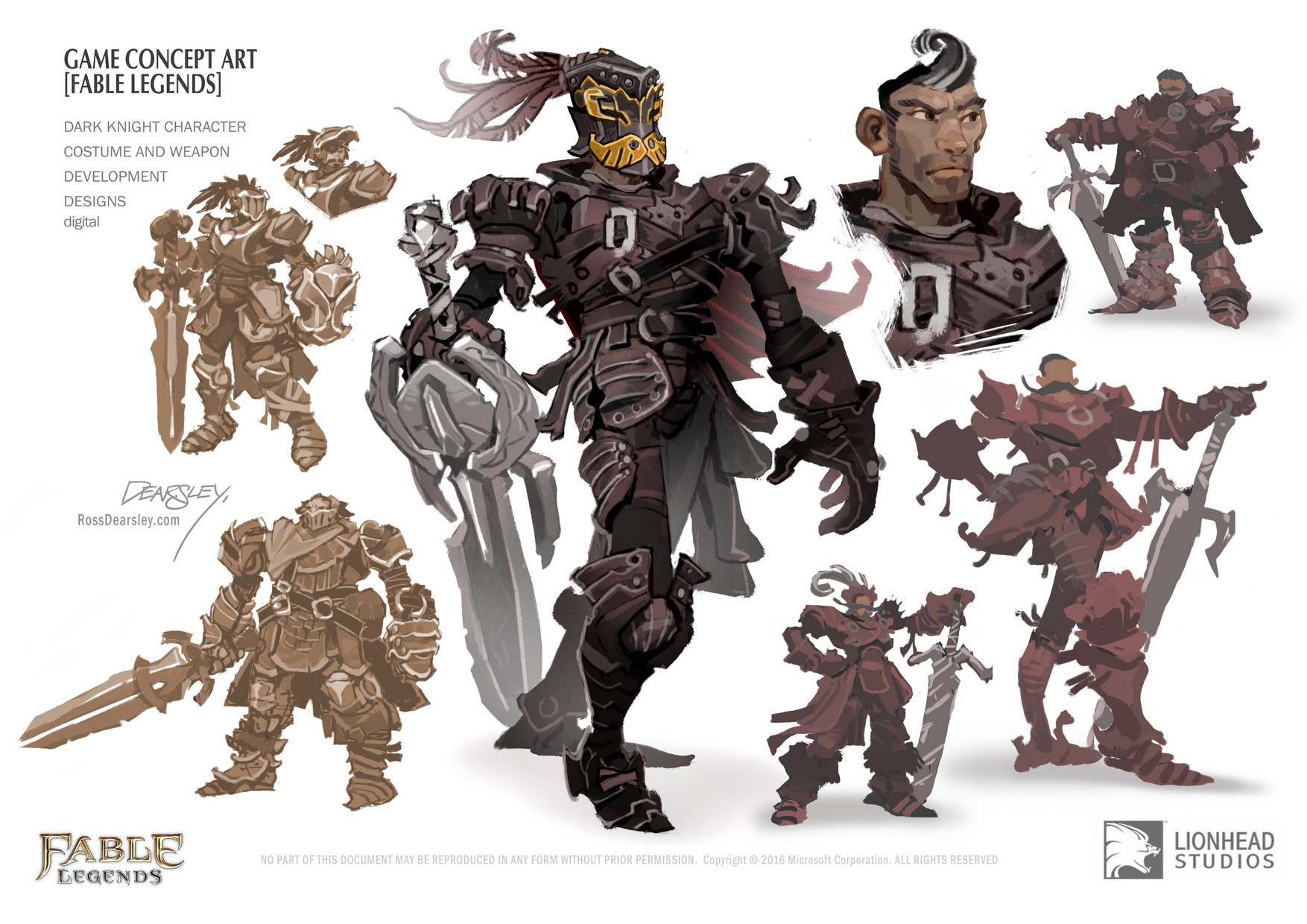 ArtStation Fable Legends Dark Knight Character Ross Dearsley - Character design document