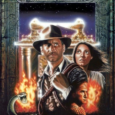 Adam mcdaniel raiders of the lost ark 2000 artwork medium