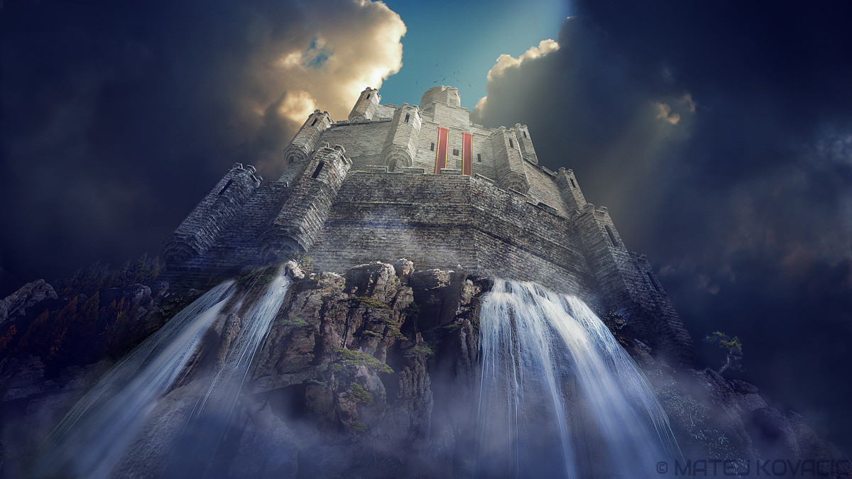 Matej kovacic castle waterfall by matej kovacic