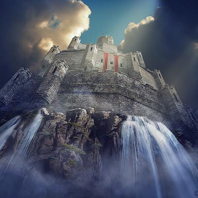 Matej kovacic castle waterfall by matej kovacic