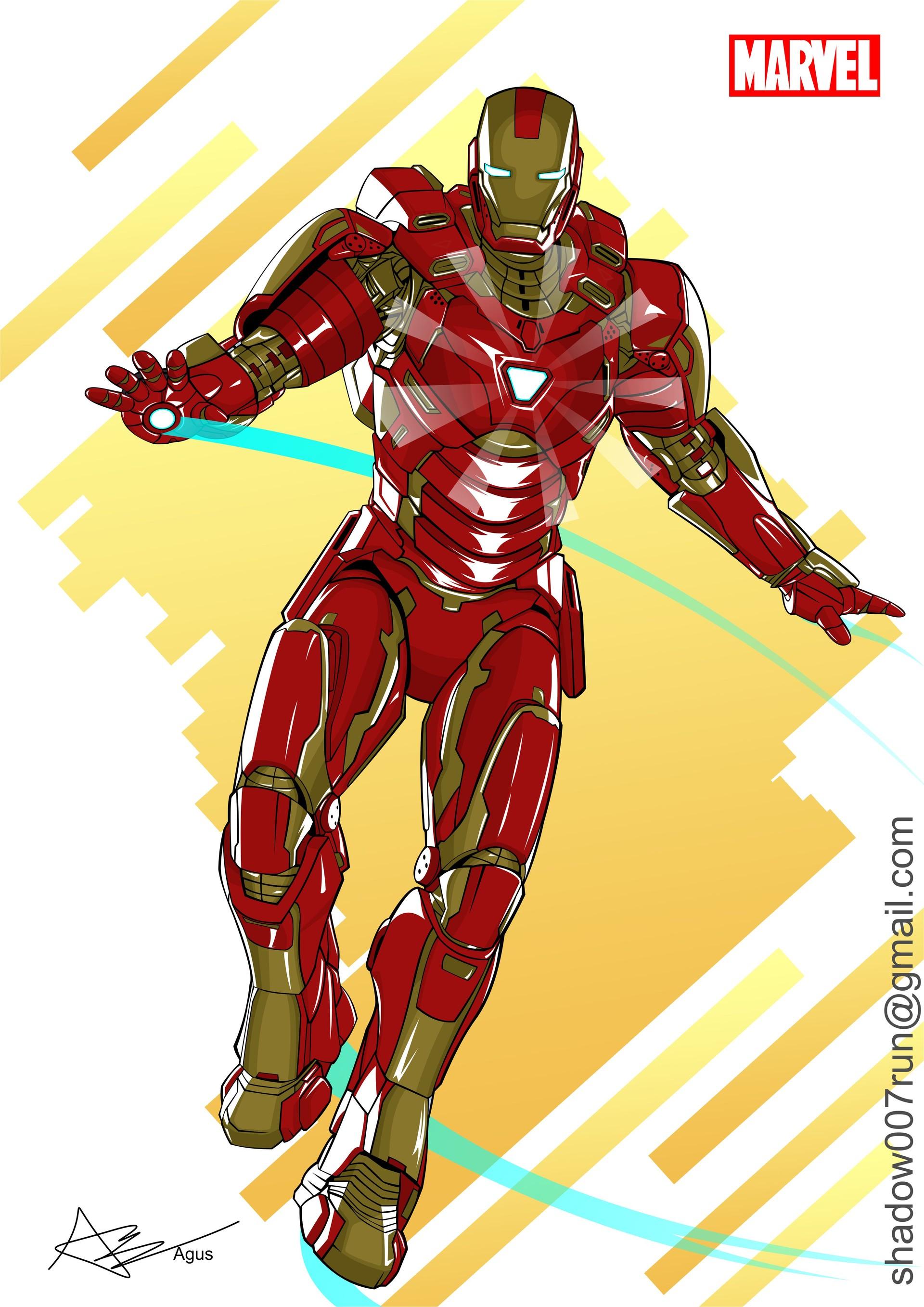 artstation - iron man fanart vector, agus wahyu prasetyo