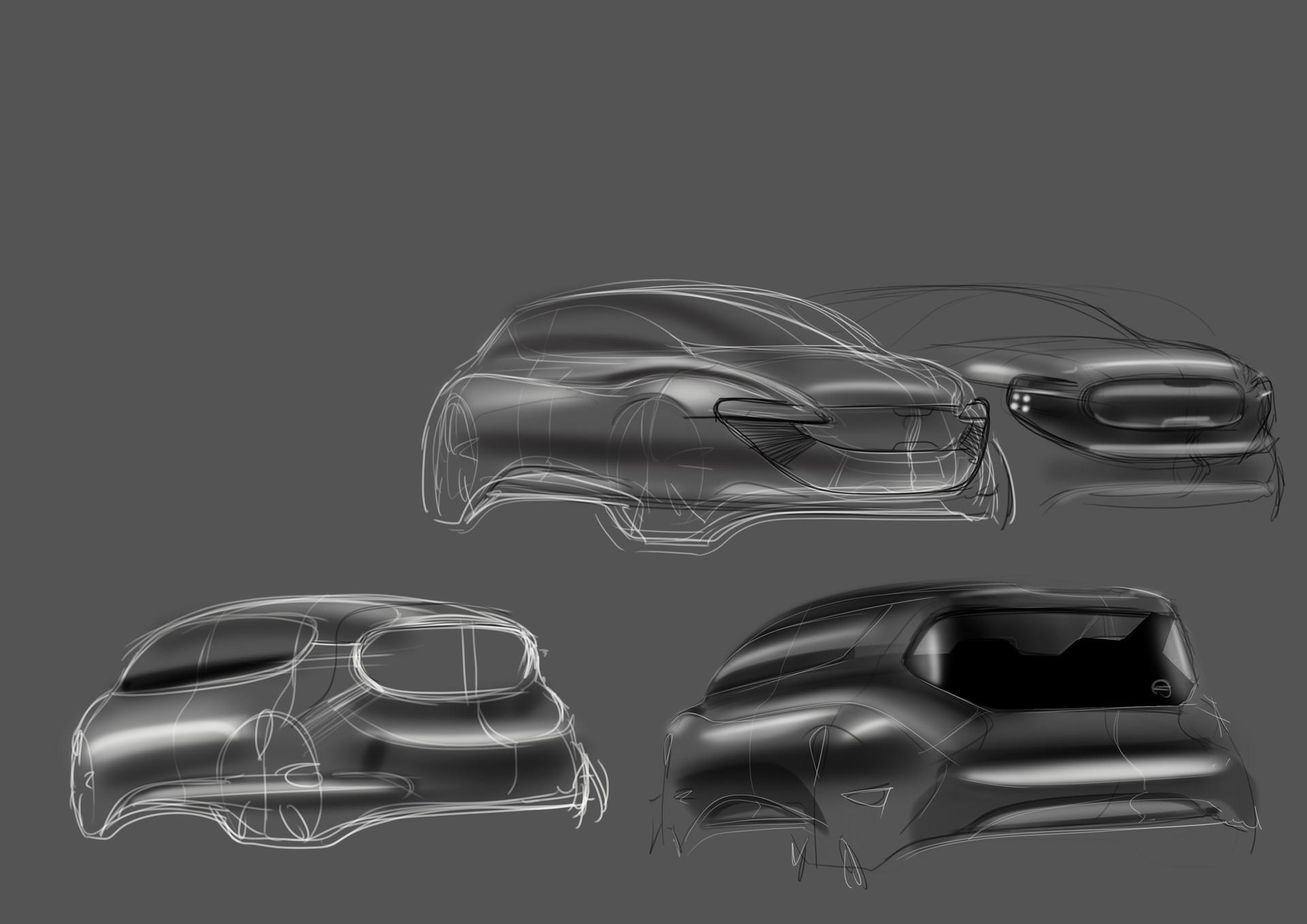 ArtStation - car sketches, Markus Zhu
