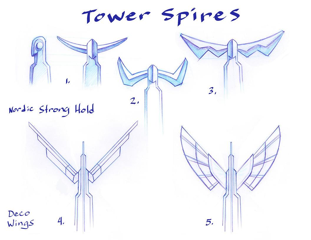 Pat bollin asgard tower spire options