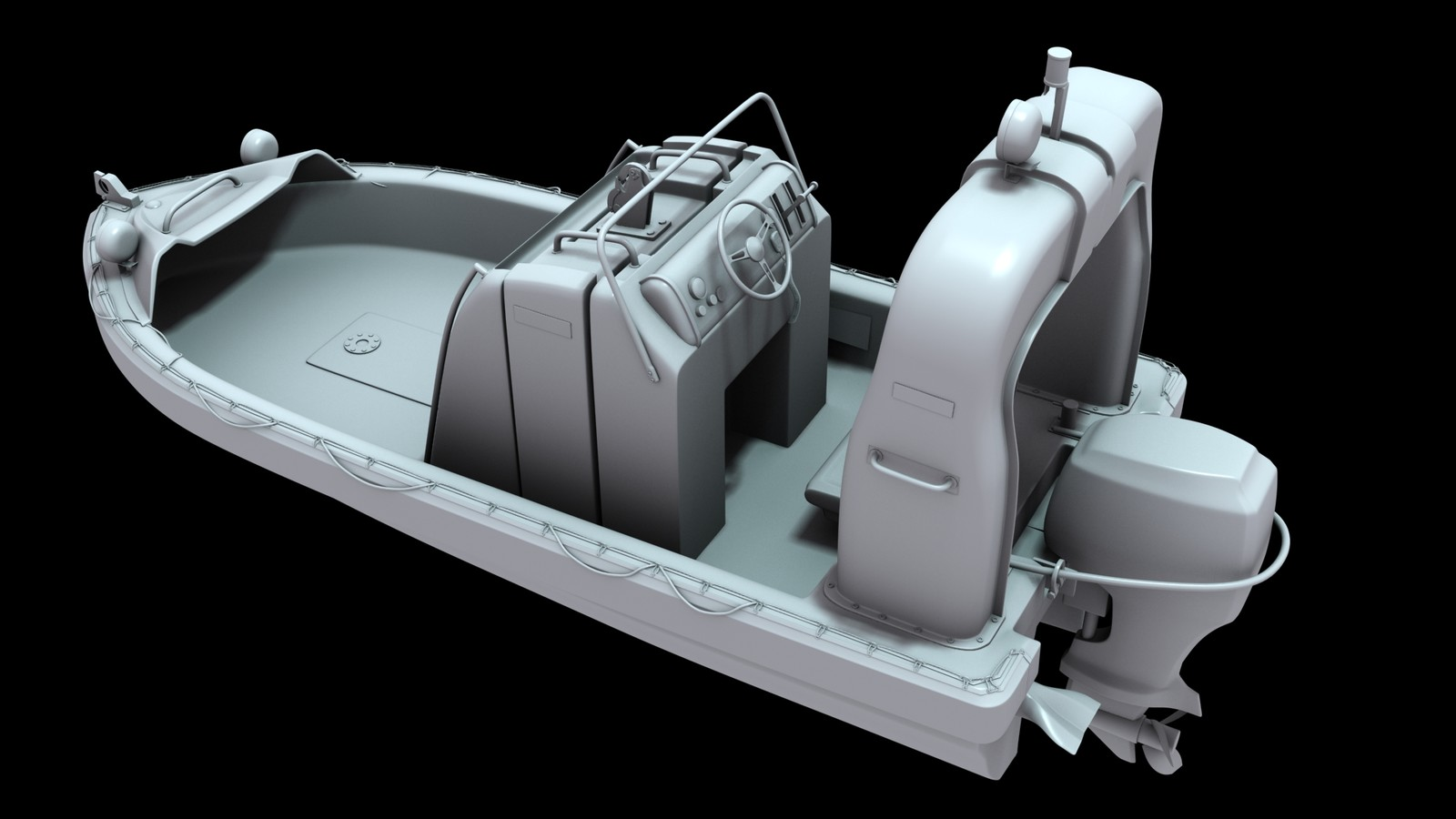 Fast rescue boat 01 [hightpoly]