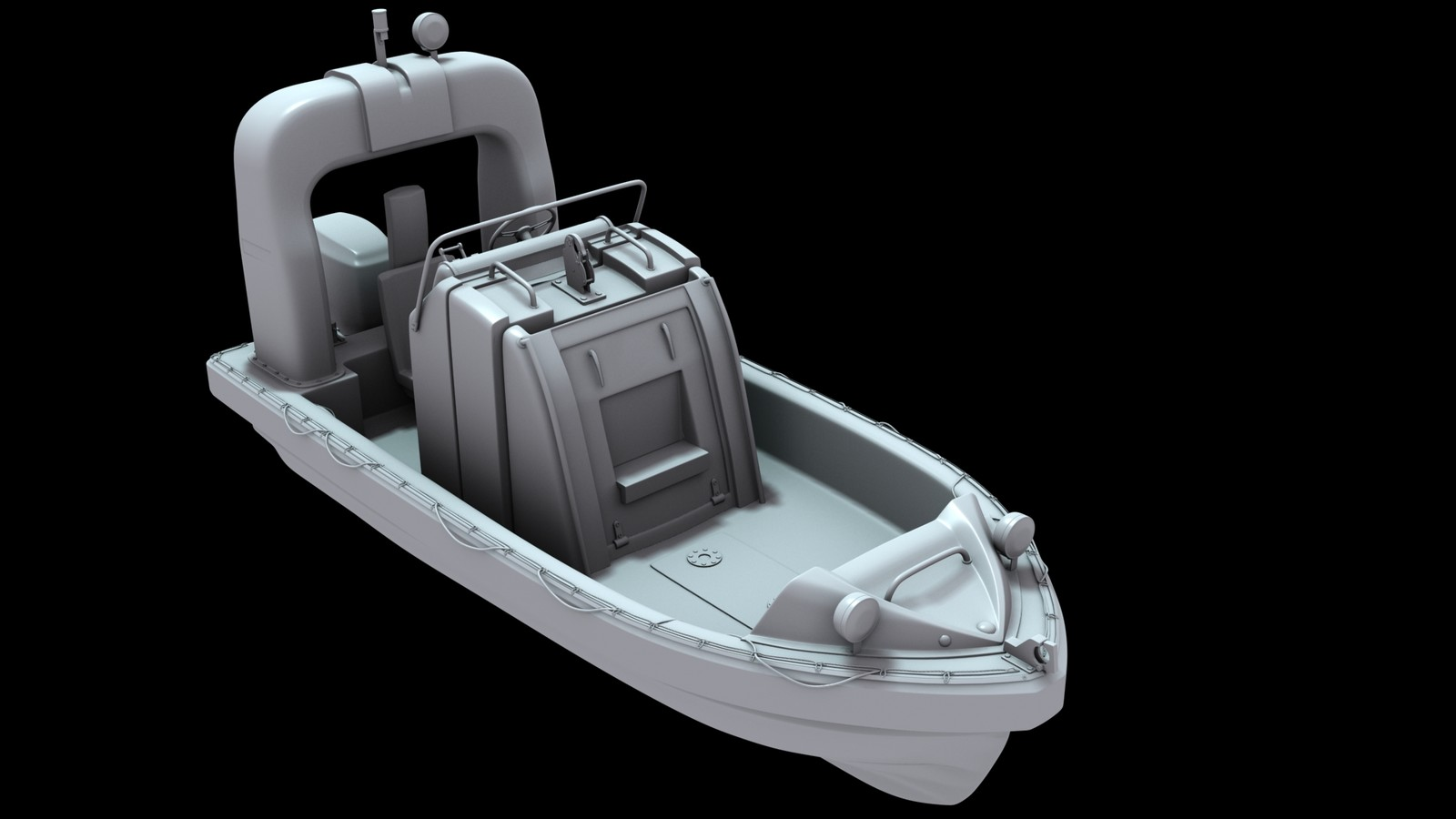Fast rescue boat 02 [hightpoly]