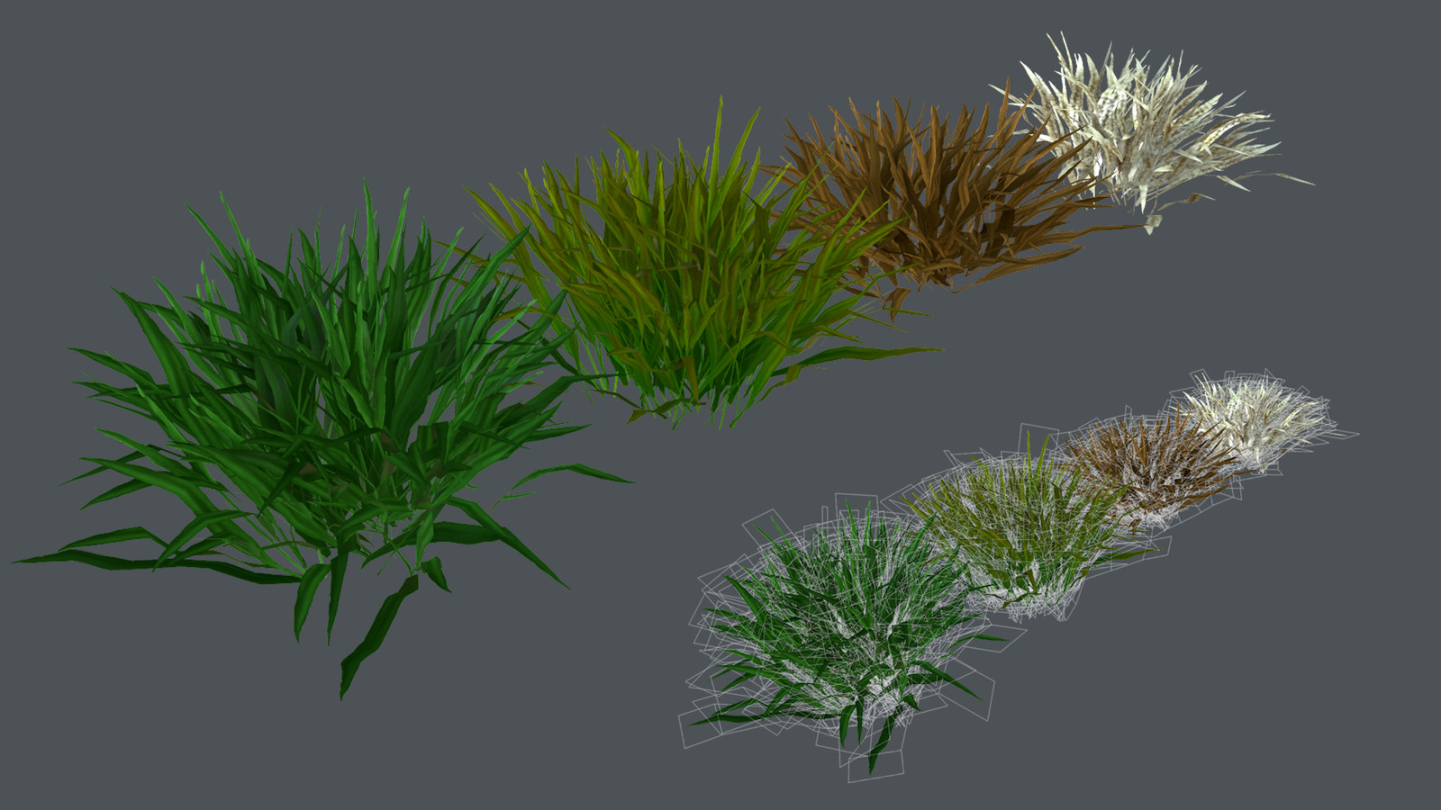 Low Poly Hand Painted Grass