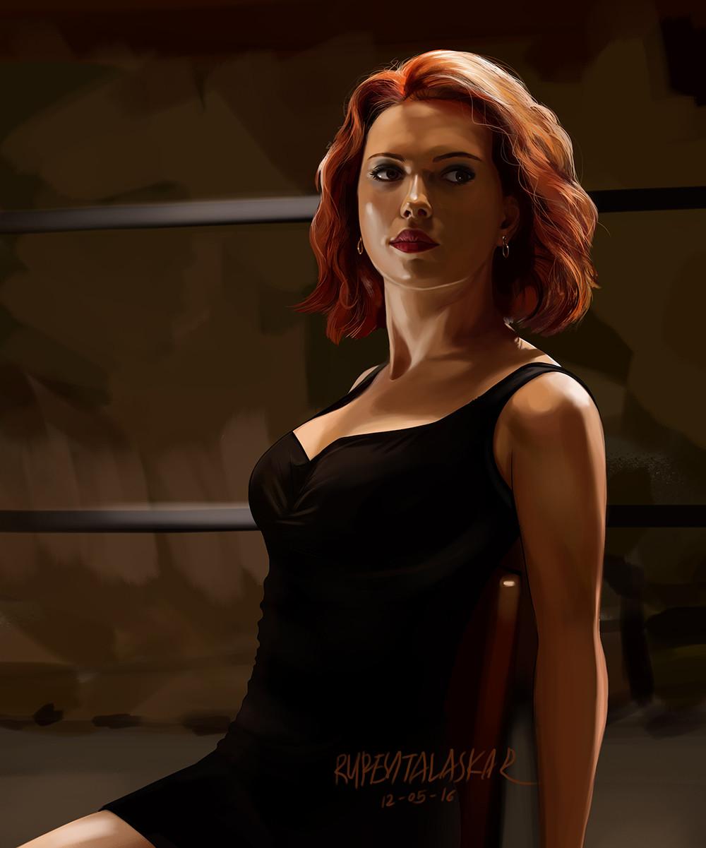 ArtStation - Color Study - Black Widow (Scarlett Johansson