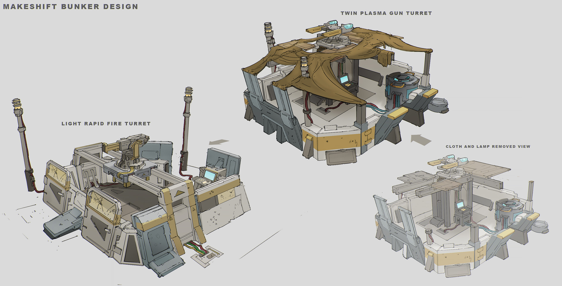 Franklin chan tuebor game concept makeshift bunker design