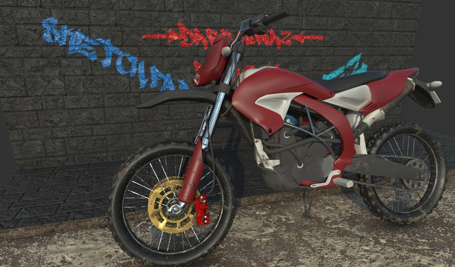 Vray on updated Motorbike