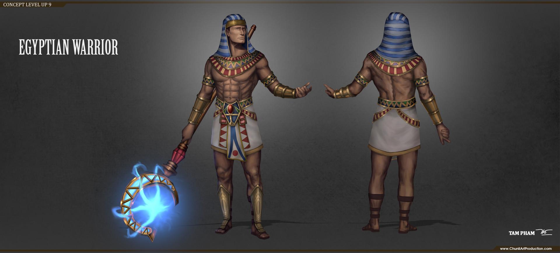 Artstation Egyptian Warrior Concept Tam Pham