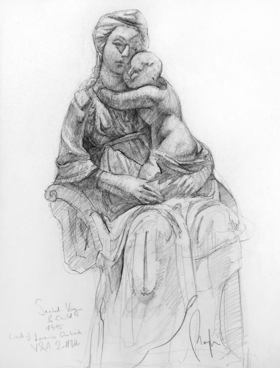 Lorenzo Ghiberti Study (pencil, paper) / V&A Museum, London