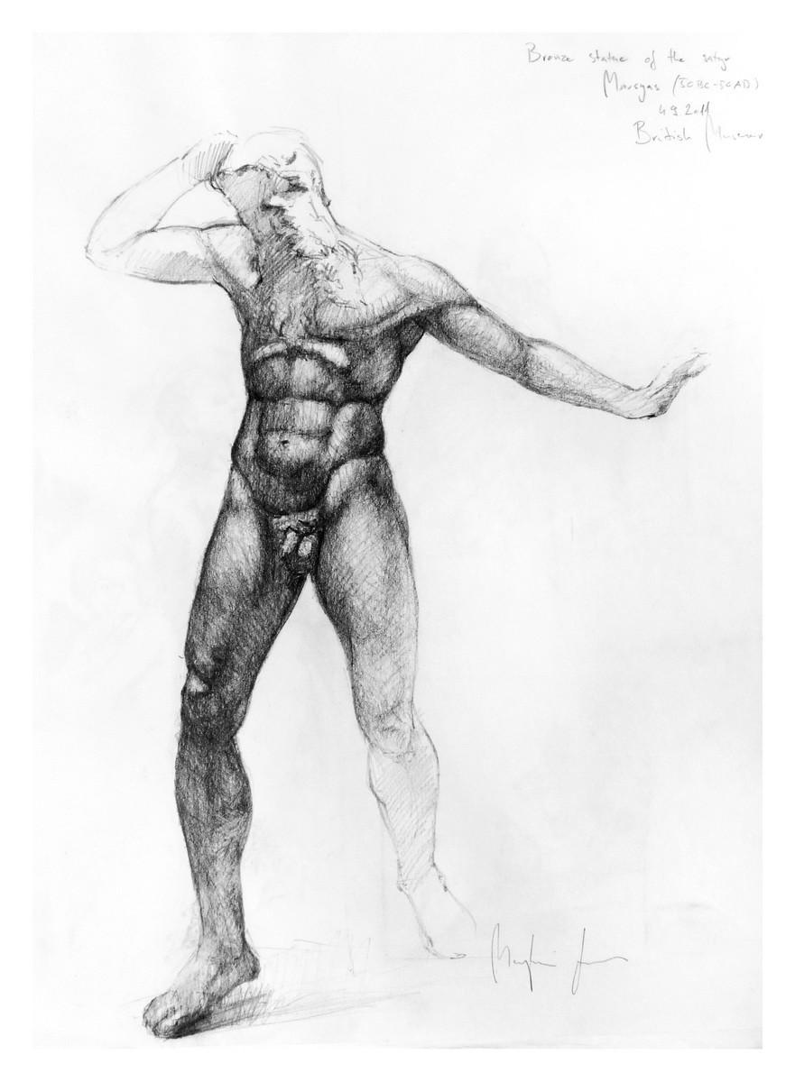 Marsyas (pencil, paper) / British Museum, London