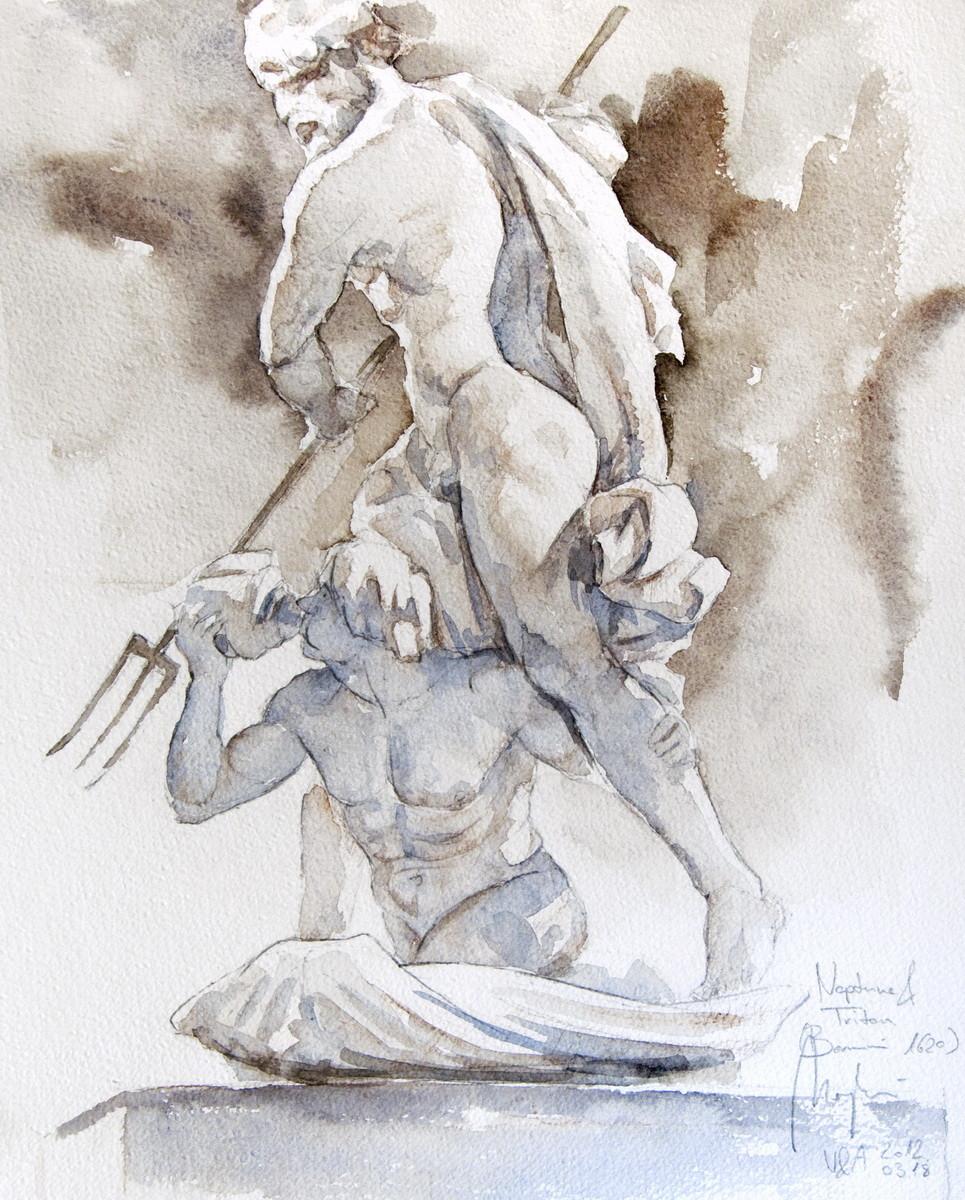 Bernini (pencil, watercolor, paper) / V&A Museum, London