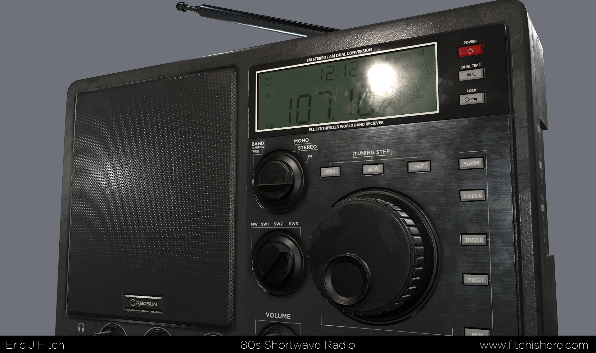 Fitch Is Here - Eric J Fitch's 3D Art Portfolio - 80s Shortwave Radio