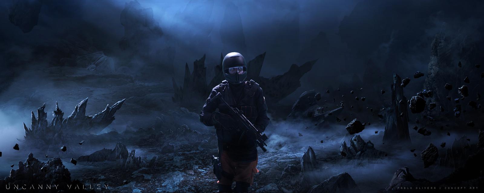 Uncanny Valley ( Sci-Fi short film ) Matte Painting,