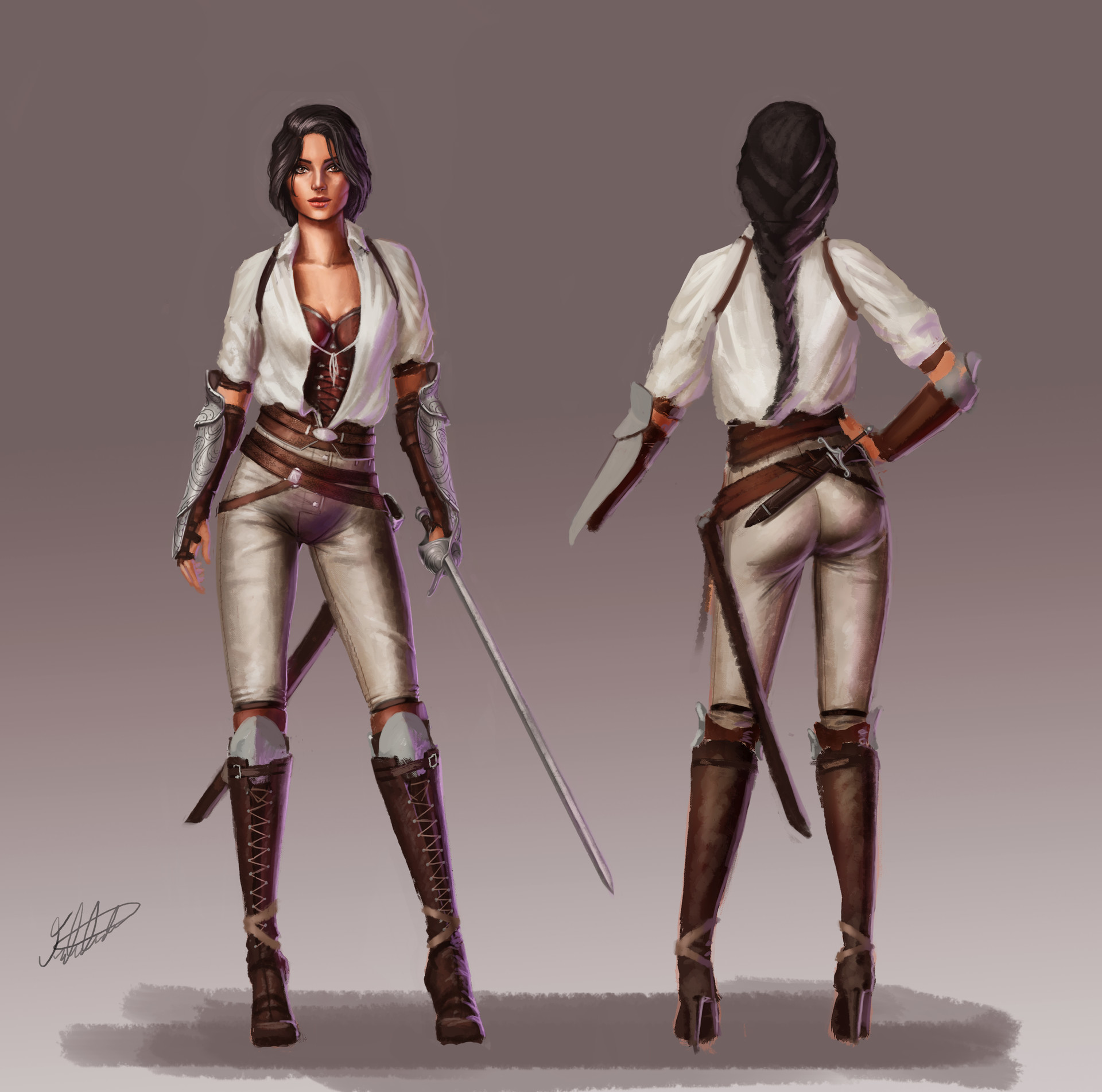 Character Design Artist Hire : Artstation female character design fencer fred almén