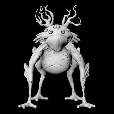 Amy seaman froglike model render01