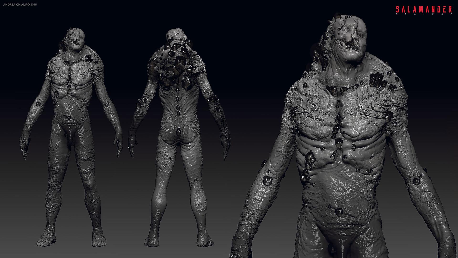 ArtStation - Human Mutant - early Concept Art for Salamander