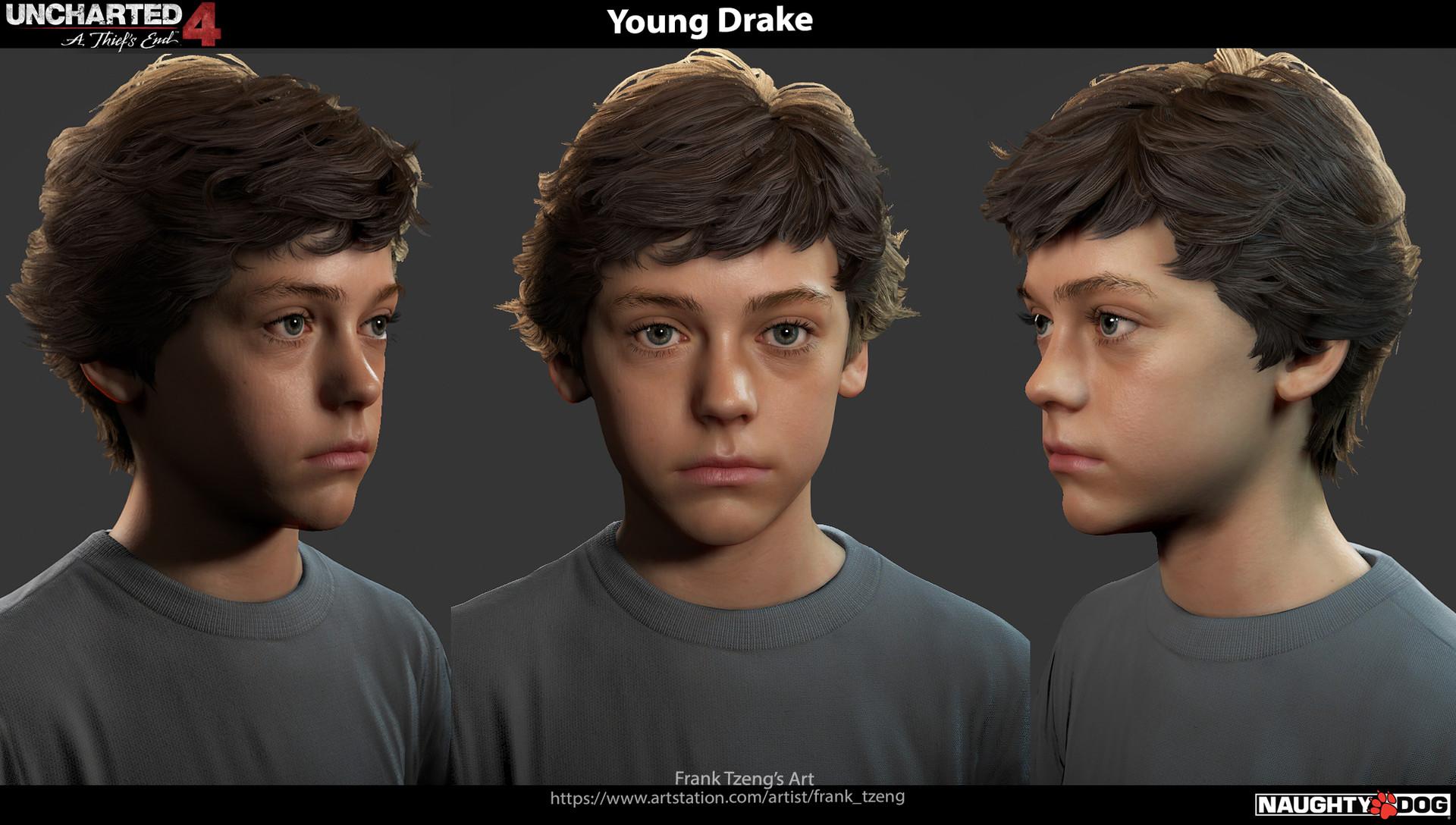 Artstation Uncharted 4 Young Drake Frank Tzeng