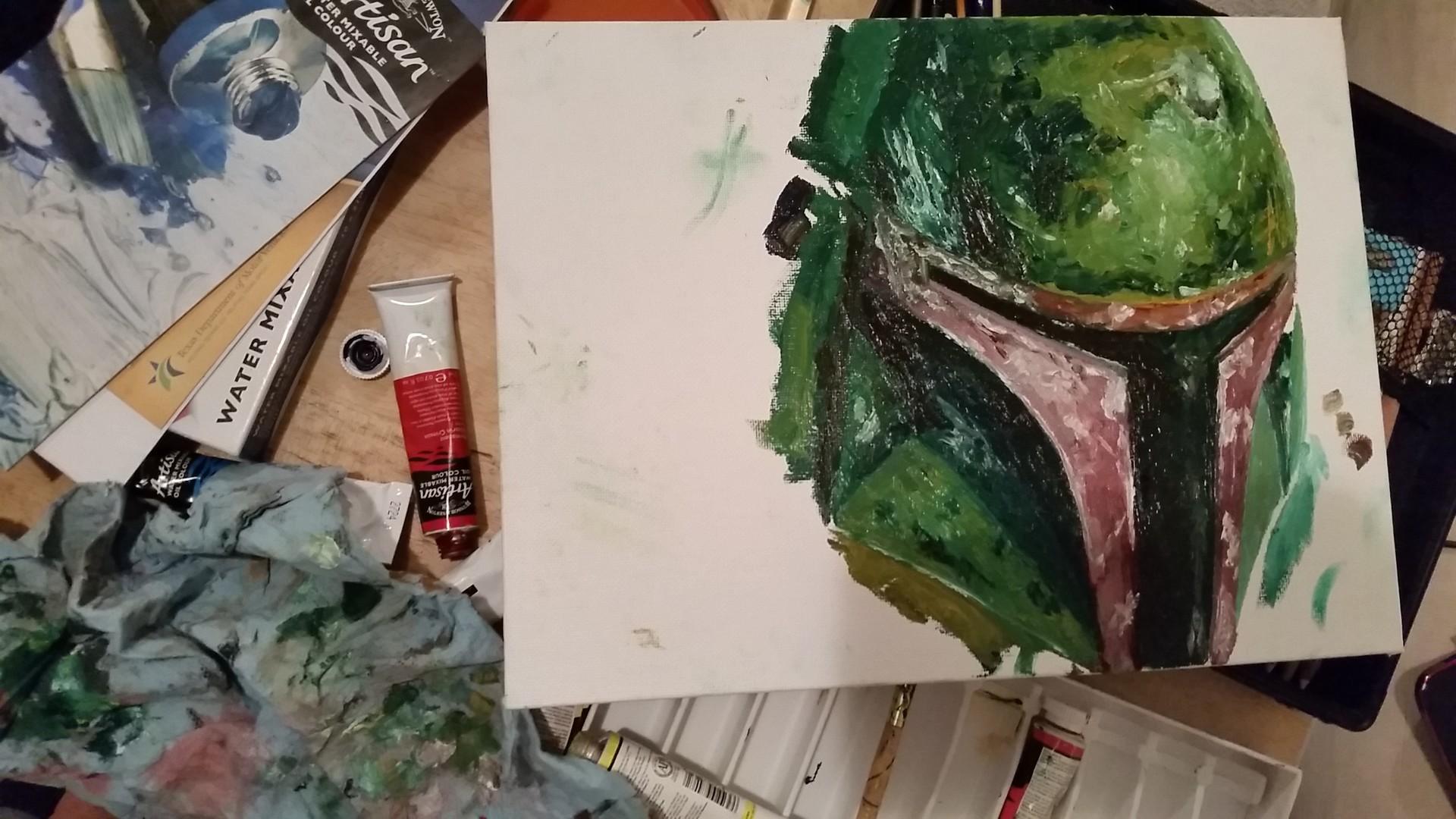Fett Oil Painting