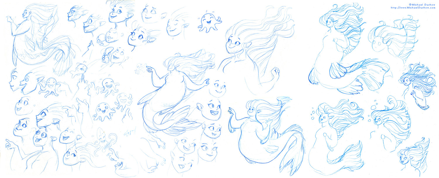 Michael dashow mermaid sketch 05 smaller