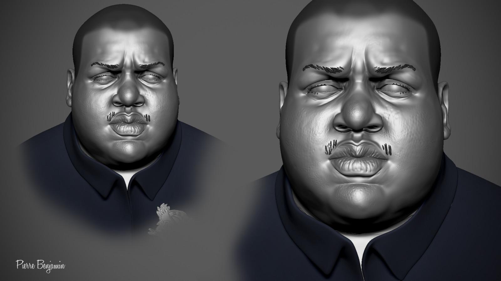 Character portrait sculpt WIP
