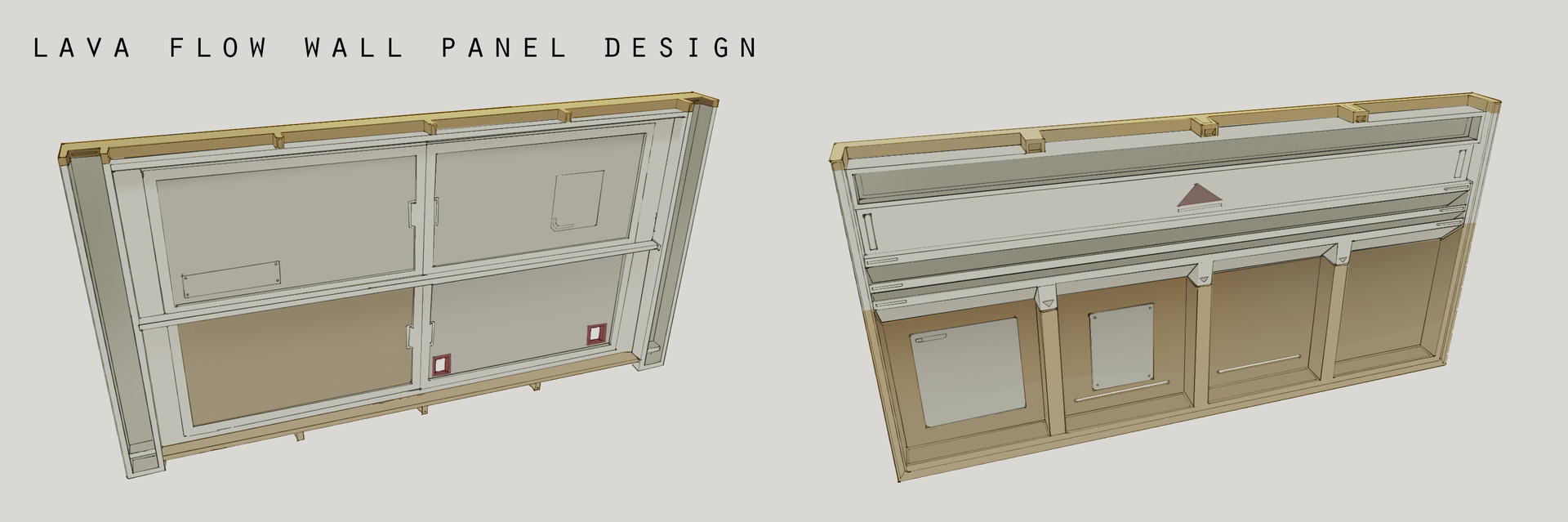 Franklin chan lava flow wall panel design layout