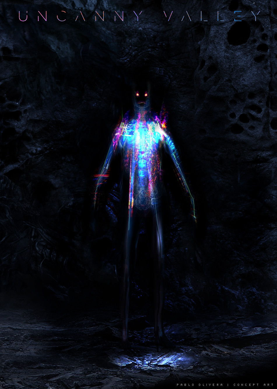 Pablo olivera uncanny valley character design alien 12