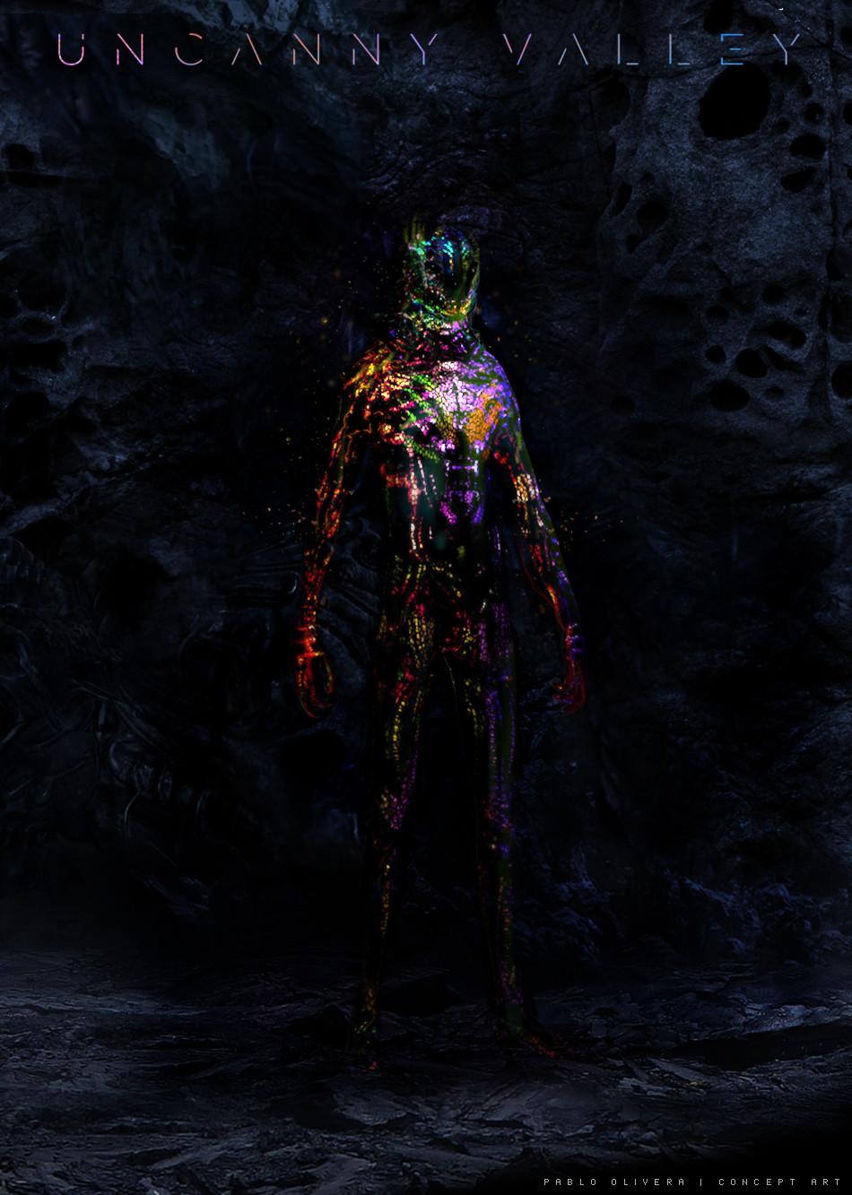 Pablo olivera uncanny valley character design alien 19