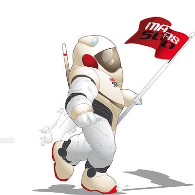 Saimon toncelli cosmonaut 1 by artbysai d4mvban