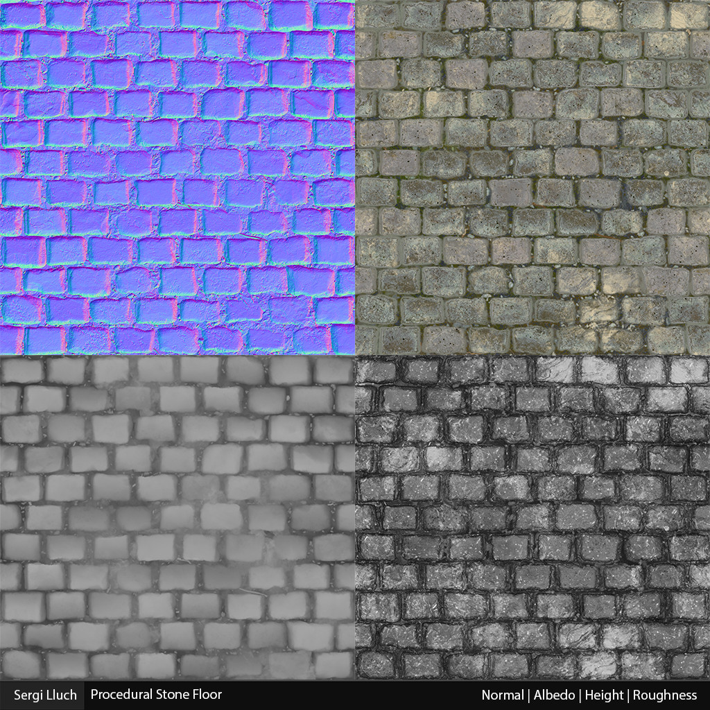 Sergi lluch stone floor mat render