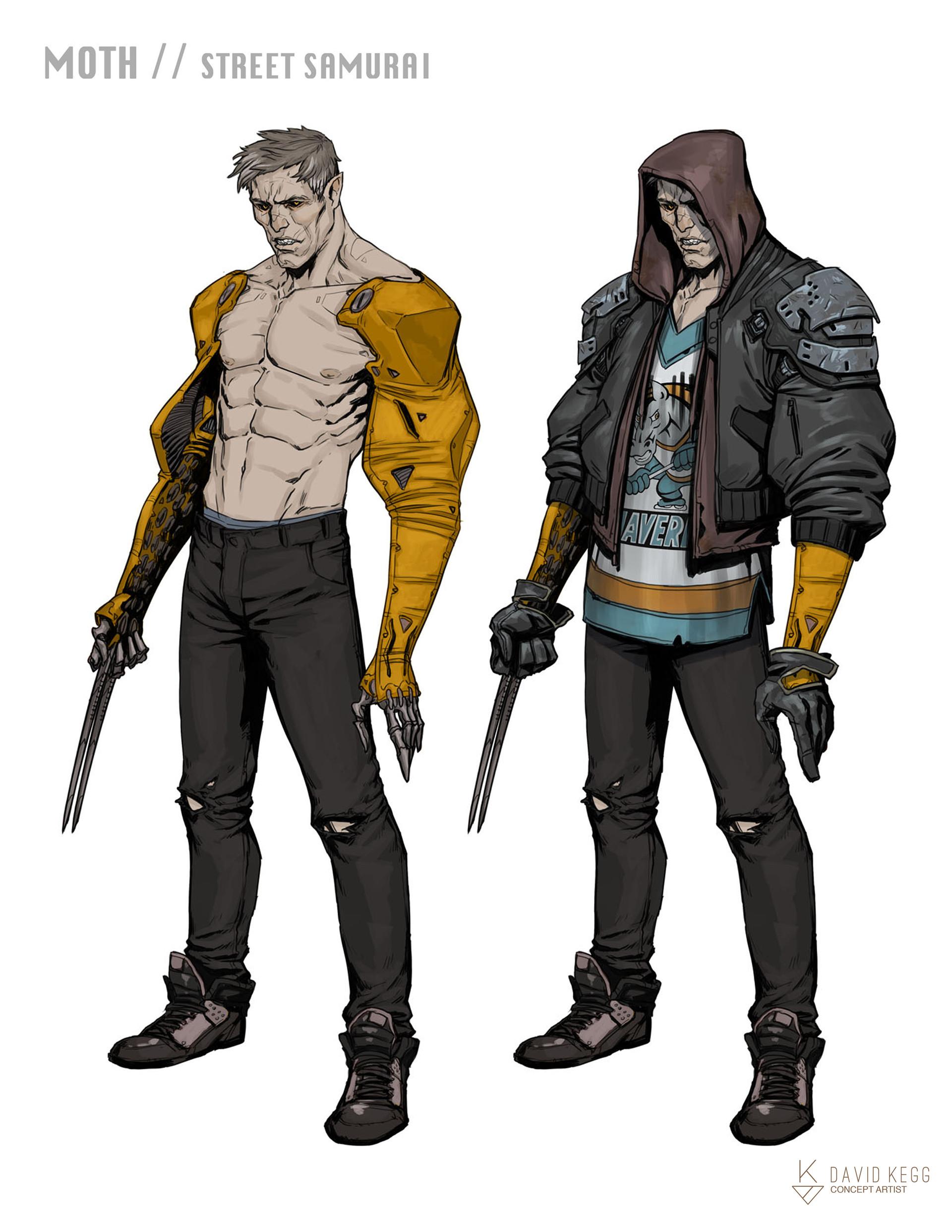 Character Design Art Station : Artstation rpg characters moth street samurai david kegg