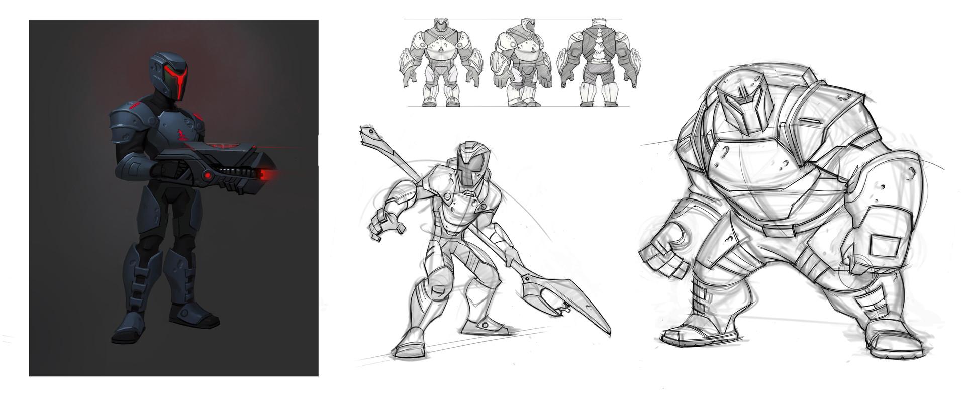 Character Design Art Station : Josh black sakaran enemy designs for disney infinity