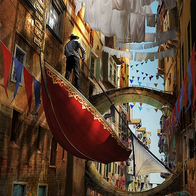 Mirsad agic floating thru venice