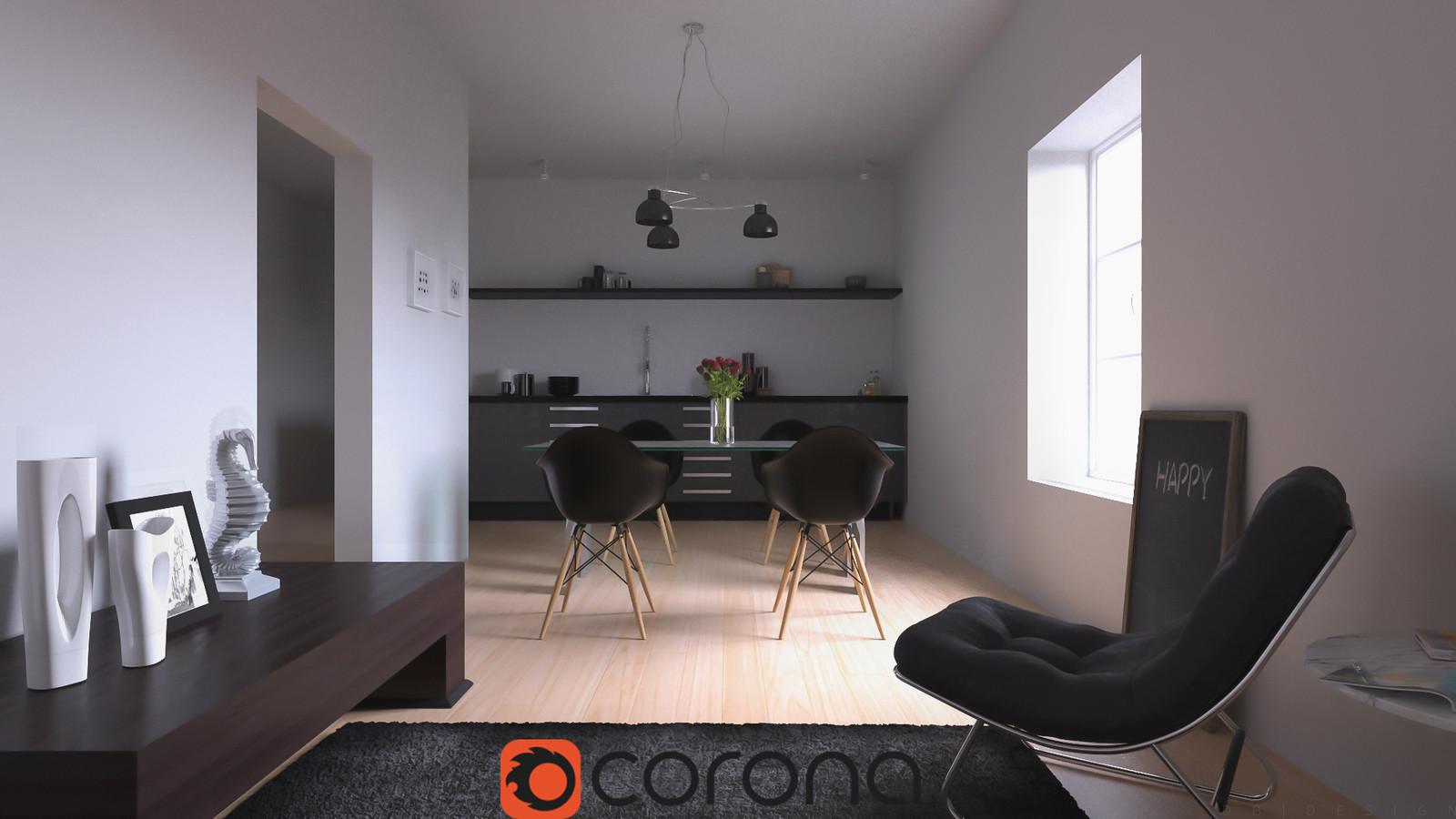 Modern Interior - Corona Renderer