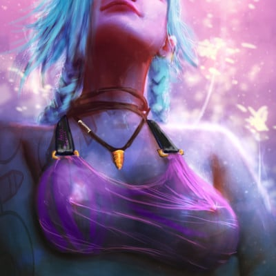 Anato finnstark jinx rule the game nsfw and process on patreon by anatofinnstark da3m91k